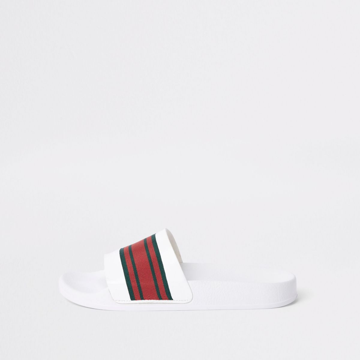 White stripe sliders