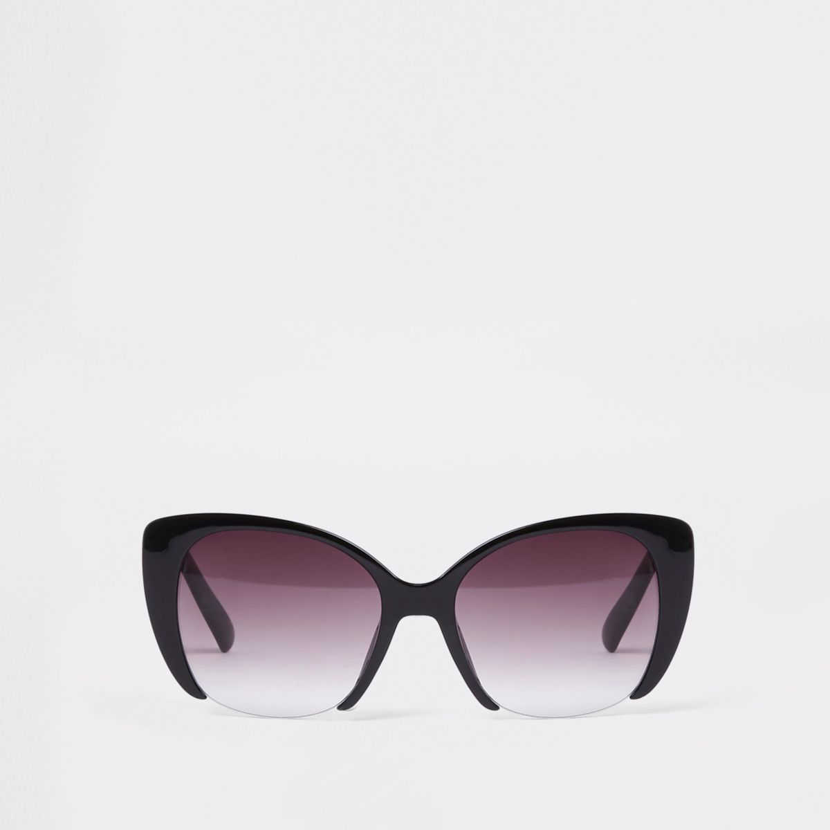Black cut out lens glam sunglasses
