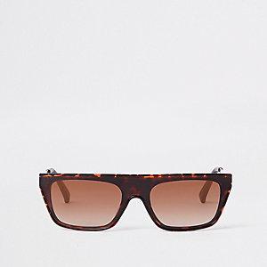 Braune Sonnenbrille mit Print