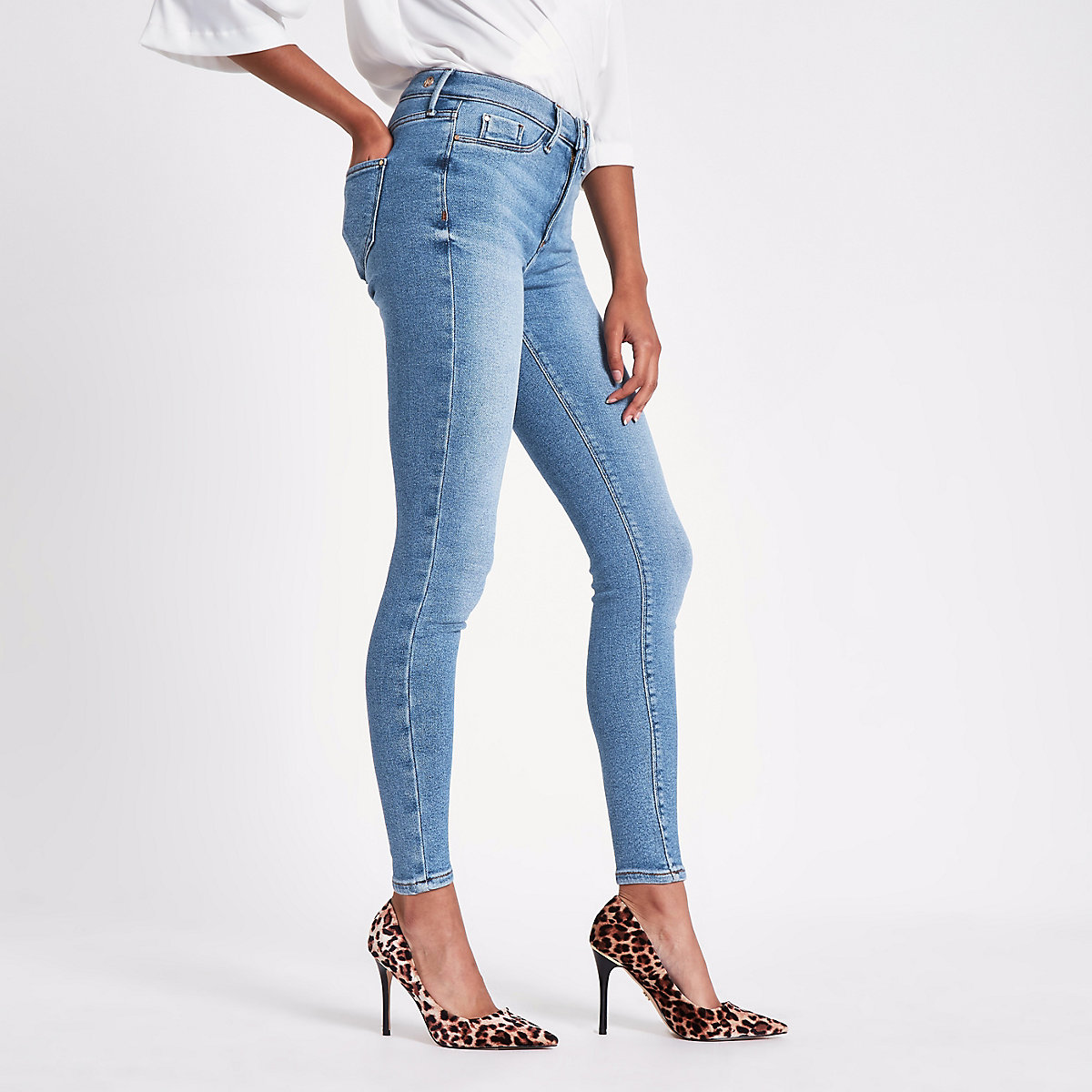 Blue Molly super skinny jeggings