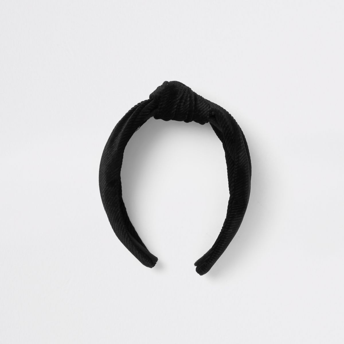 Black cord knot headband