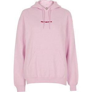 Pride - Roze hoodie met 'hearts not parts'-print