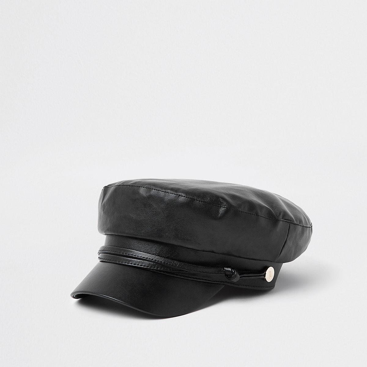 Zwarte bakerboy-pet met touw