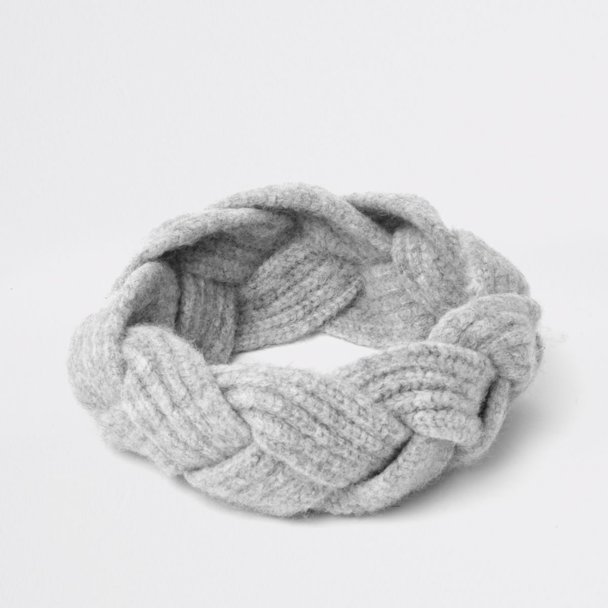 Grey plaited headband