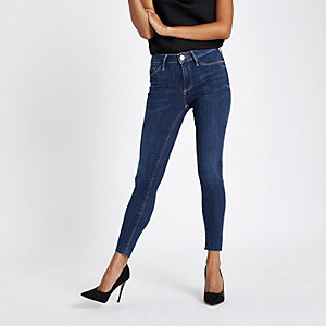 Petite – Molly – Skinny Jeggings in mittlerer Waschung