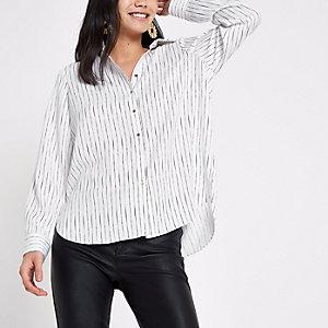 Crème gestreept overhemd
