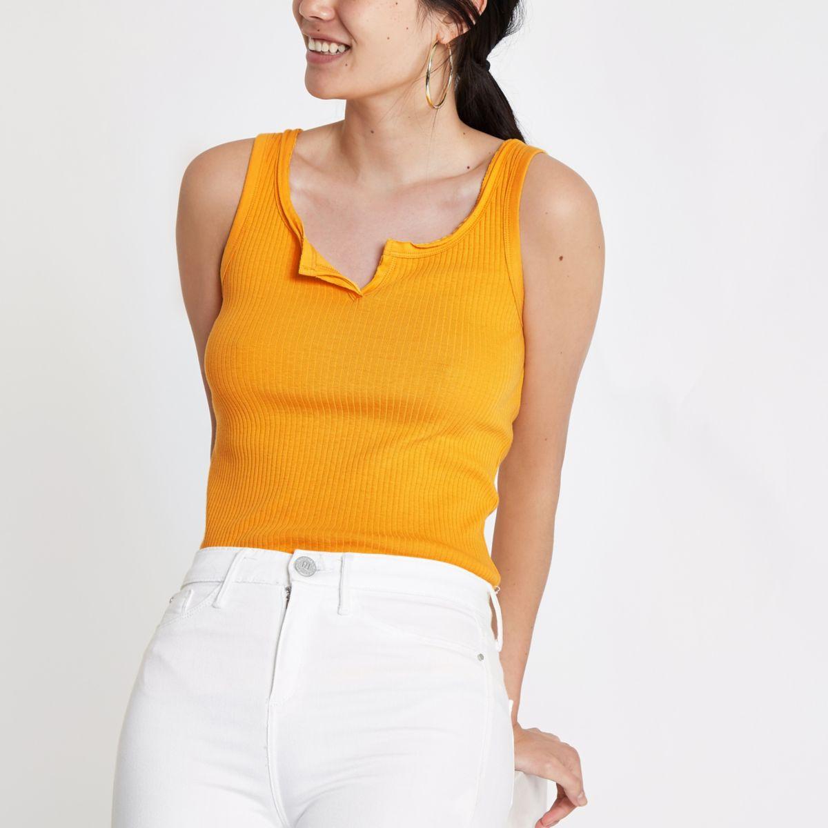 Dark yellow notch front vest