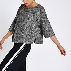 Dark grey boxy T-shirt