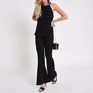 Zwarte broek met textuur