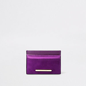 Purple metallic travel card holder