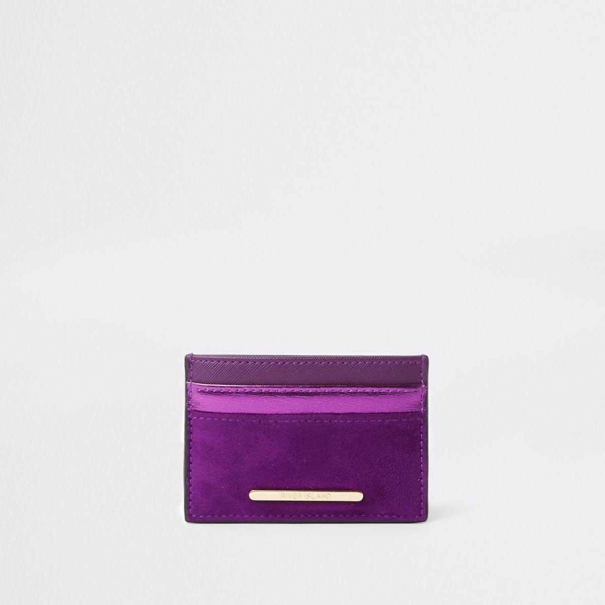 Purple metallic travel card holder