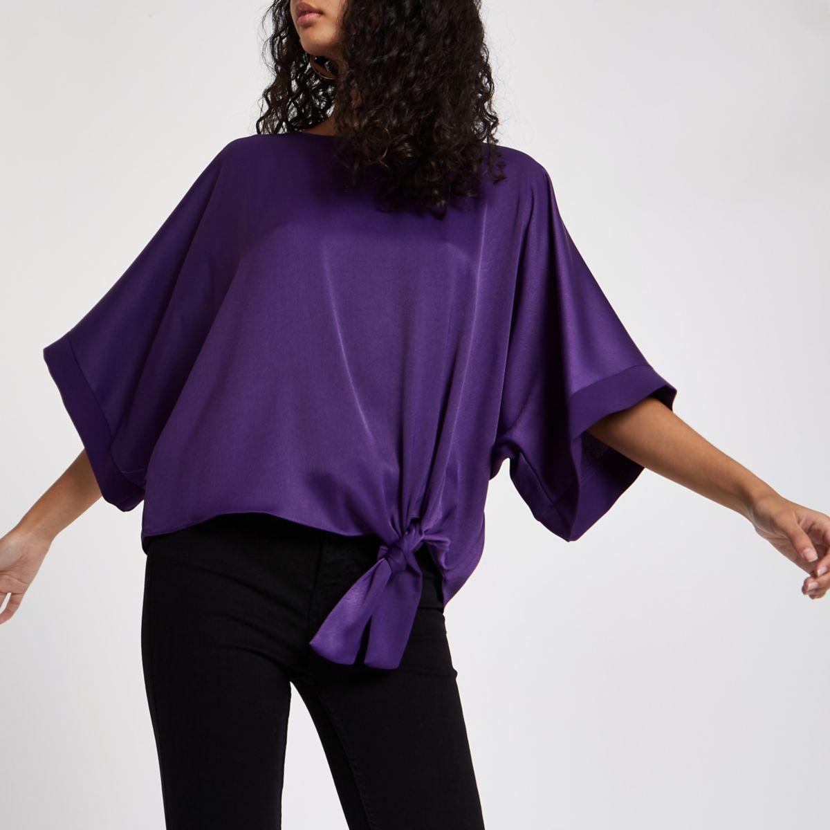 Purple knot side T-shirt