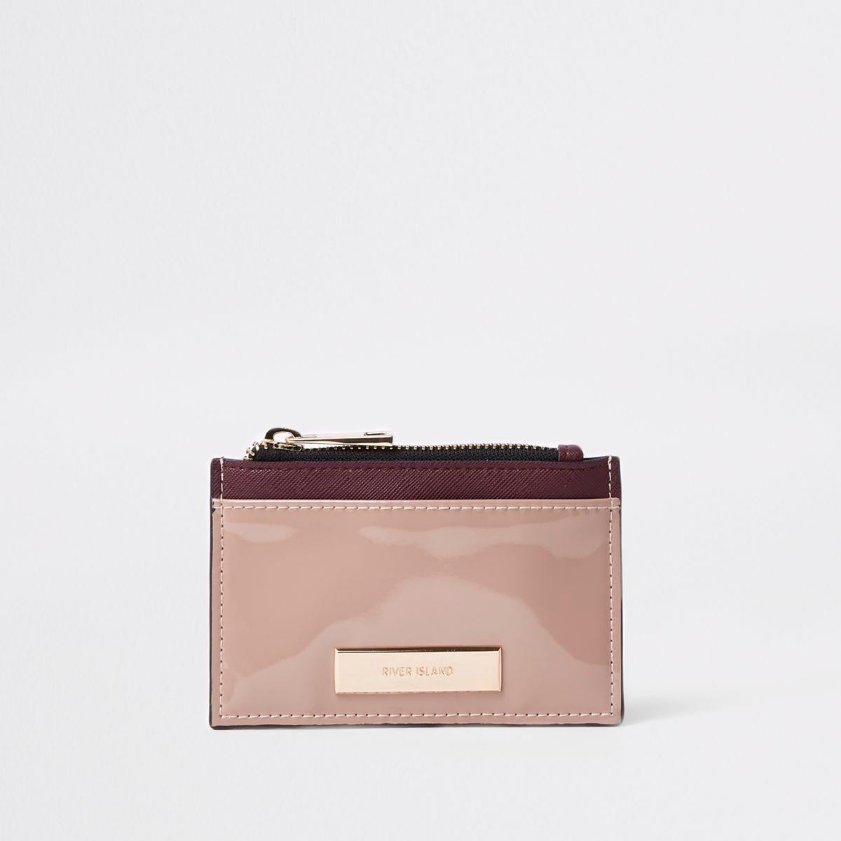Brown zip pouch card holder