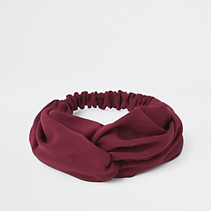 Red twist headband