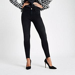Amelie - Zwarte washed jeans