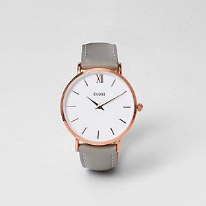Cluse – Armbanduhr mit roségoldenem Zifferblatt