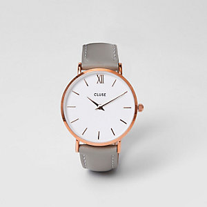 Grey rose gold tone face Cluse watch