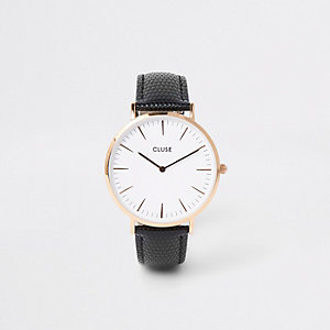 Black gold tone face Cluse watch