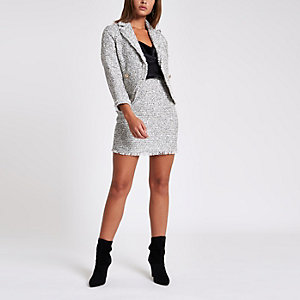 White check boucle jacket
