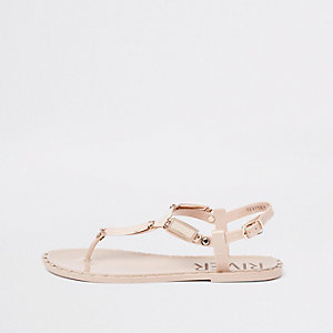 Light pink gold tone sandals