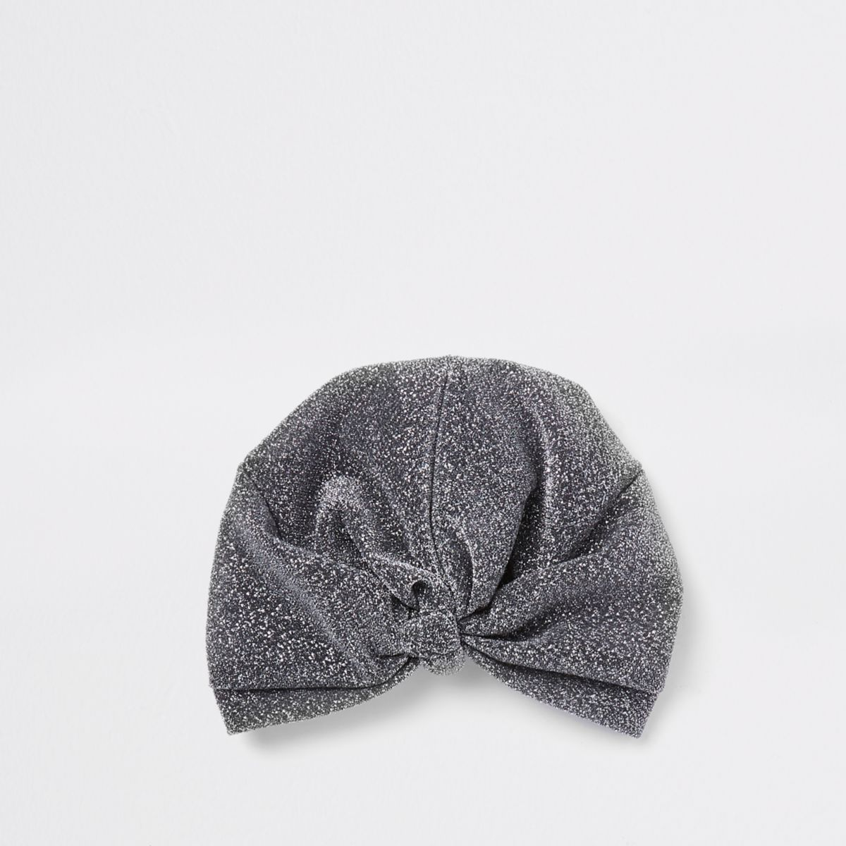 Black metallic threaded turban headband