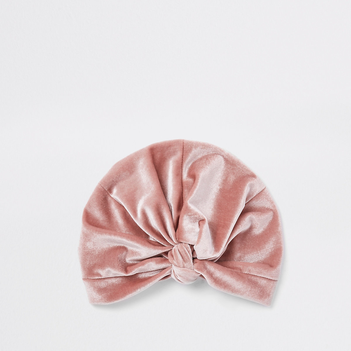 Light pink velvet twist turban headband