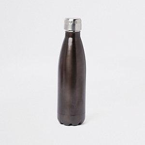 Graue, doppelwandige Trinkflasche