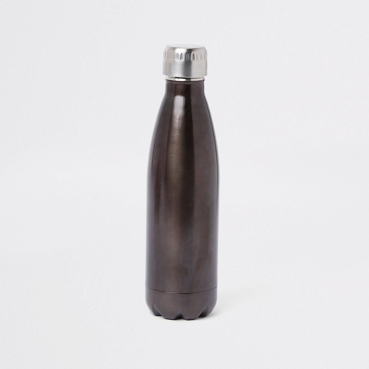 Grey double walled water bottle