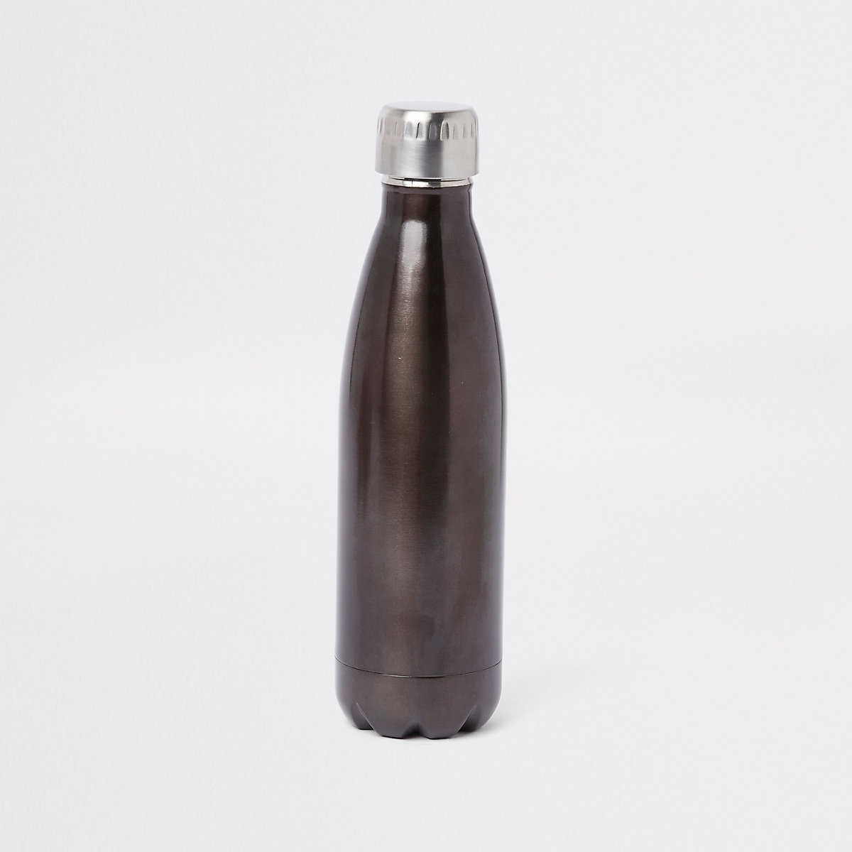 Grey double walled water bottle