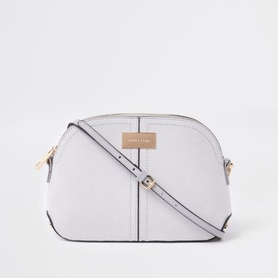 Light Grey Kettle Cross Body Bag by River Island