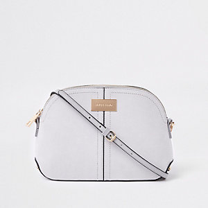 Light grey kettle cross body bag
