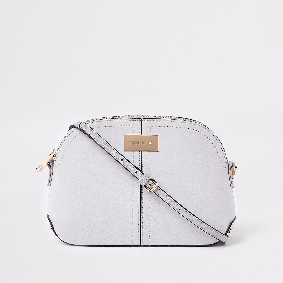 Light grey kettle cross body bag