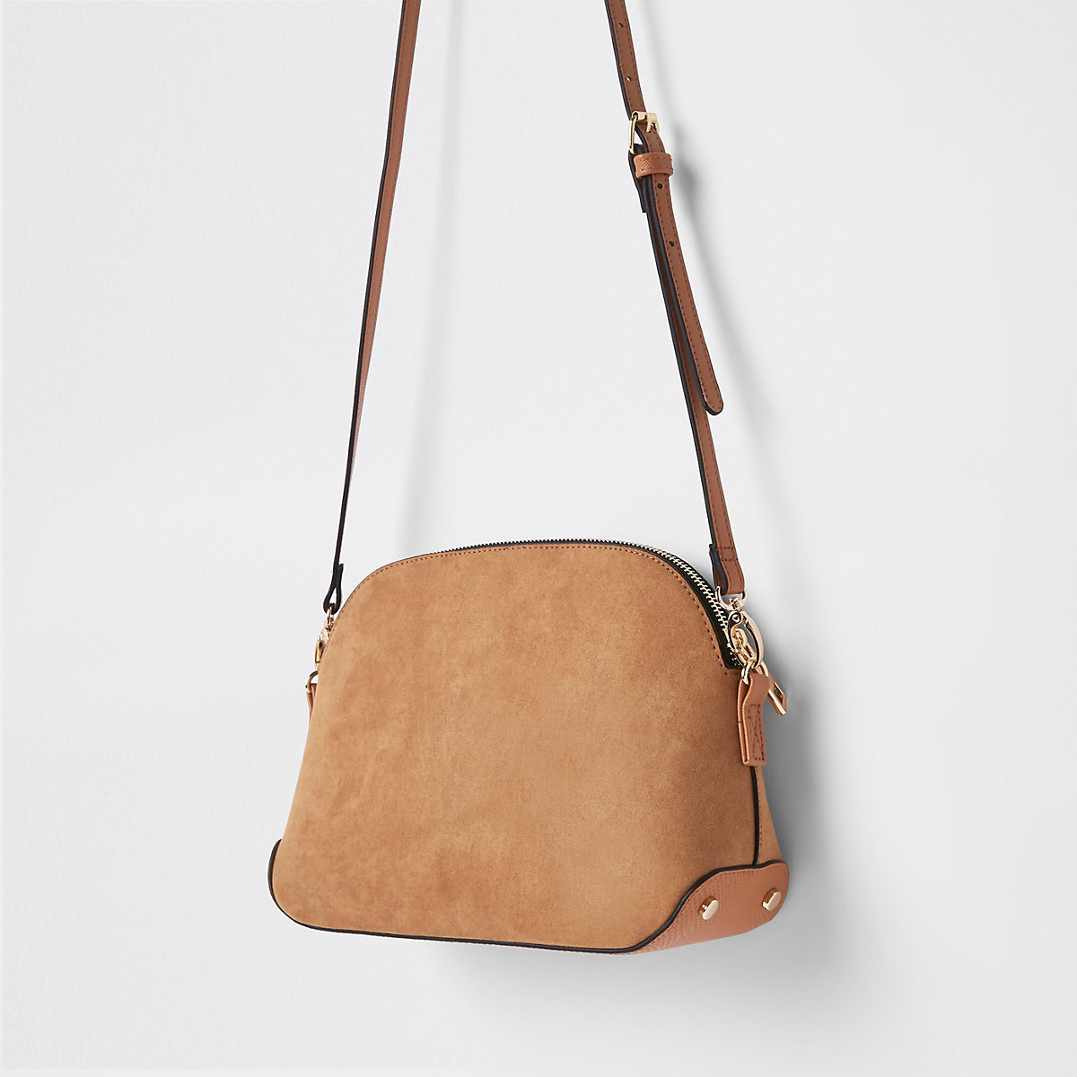 a6fa9099593b Light brown kettle cross body bag - Camel and Spice - women