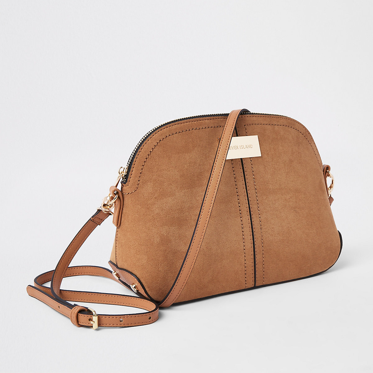 Light brown kettle cross body bag