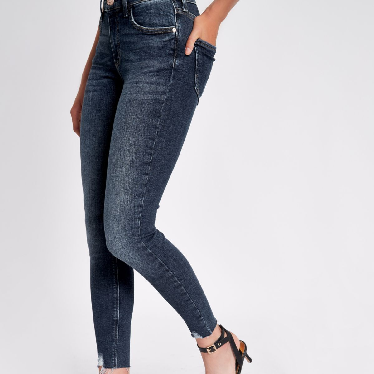 Dark denim super Amelie skinny jeans nqA8wa7R8x