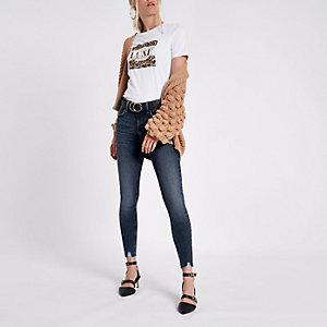 Amelie superskinny jeans van donker denim