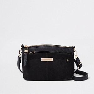 Schwarze Tasche mit drei Fächern