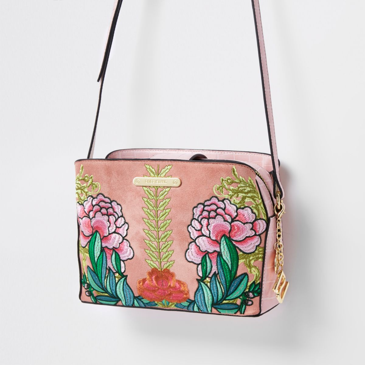 Pink floral open top triple compartment bag cross body bags bags pink floral open top triple compartment bag mightylinksfo