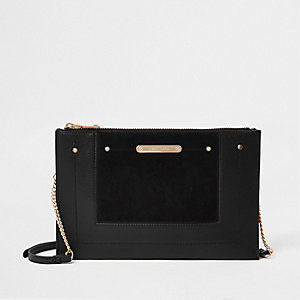 30306ab74135 Black chain cross body bag