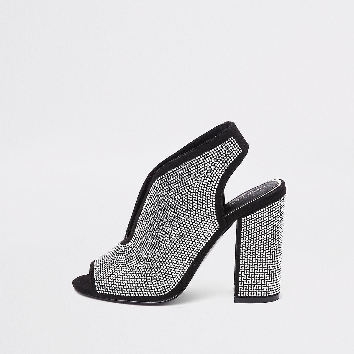 Silver heatseal curve vamp shoe boots