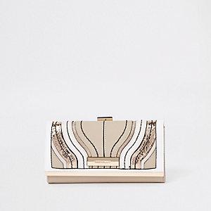 Geldbörse mit Clipverschluss in Creme