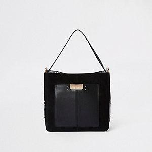 Zwarte tas met zak voor
