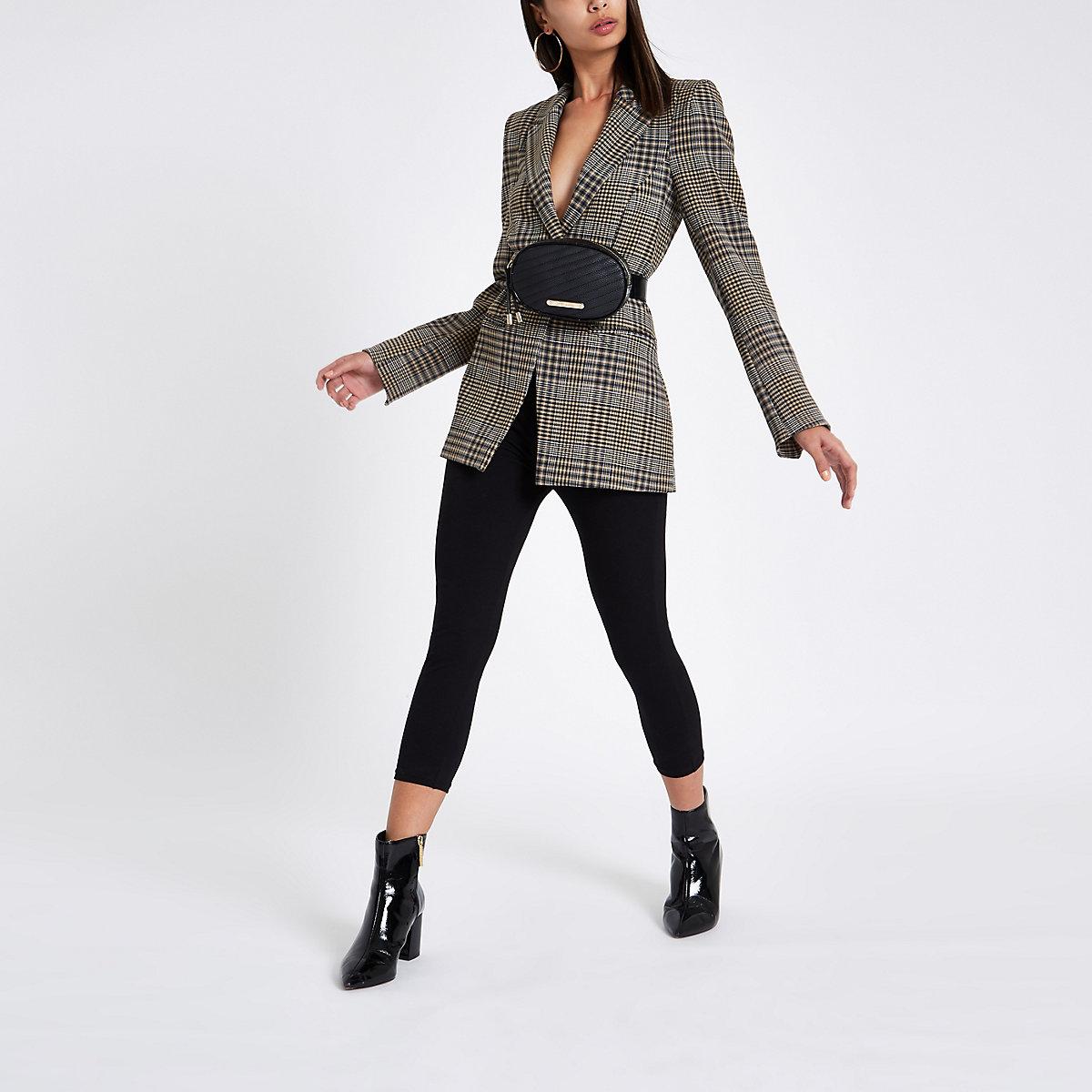 Black capri high waisted leggings