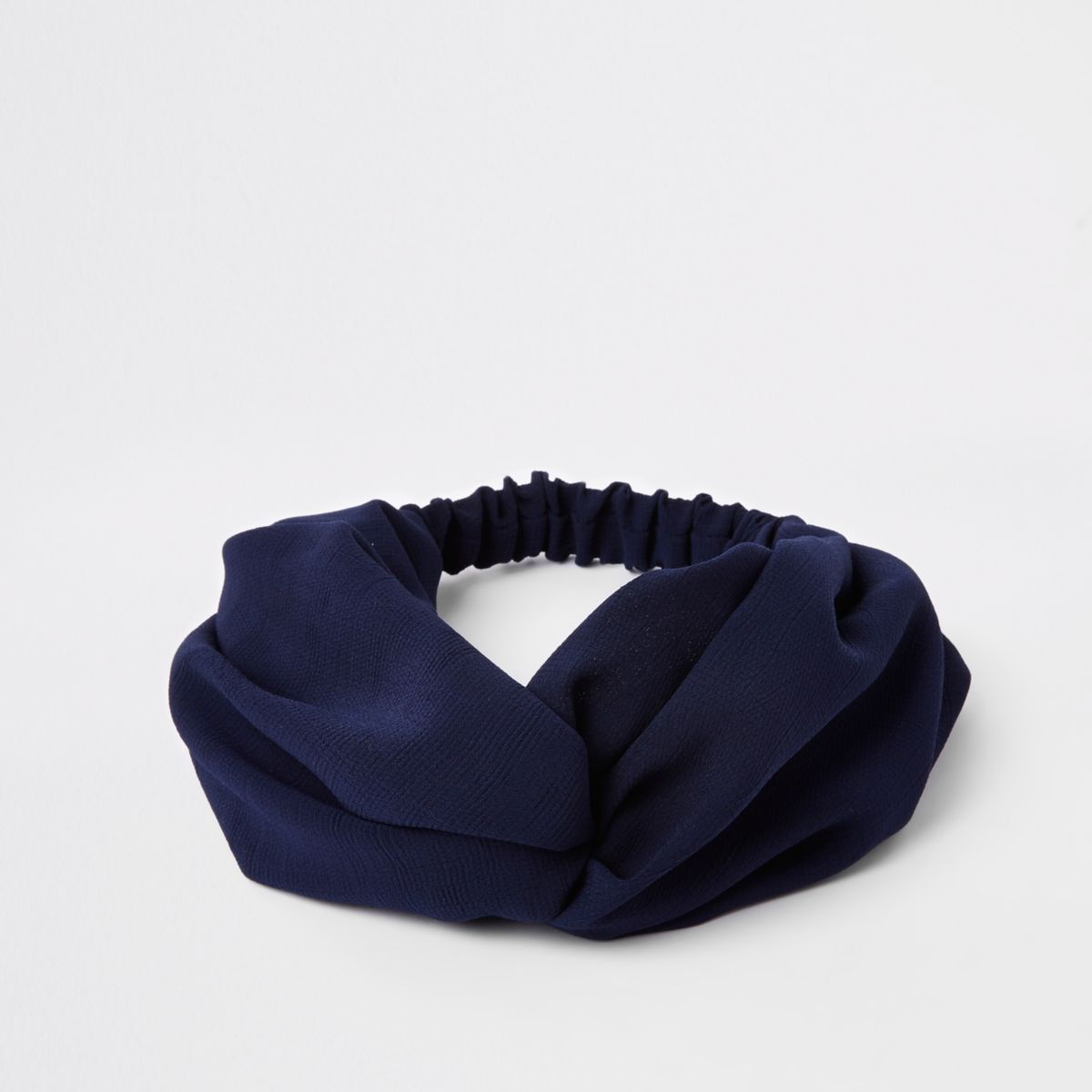 Navy twist headband