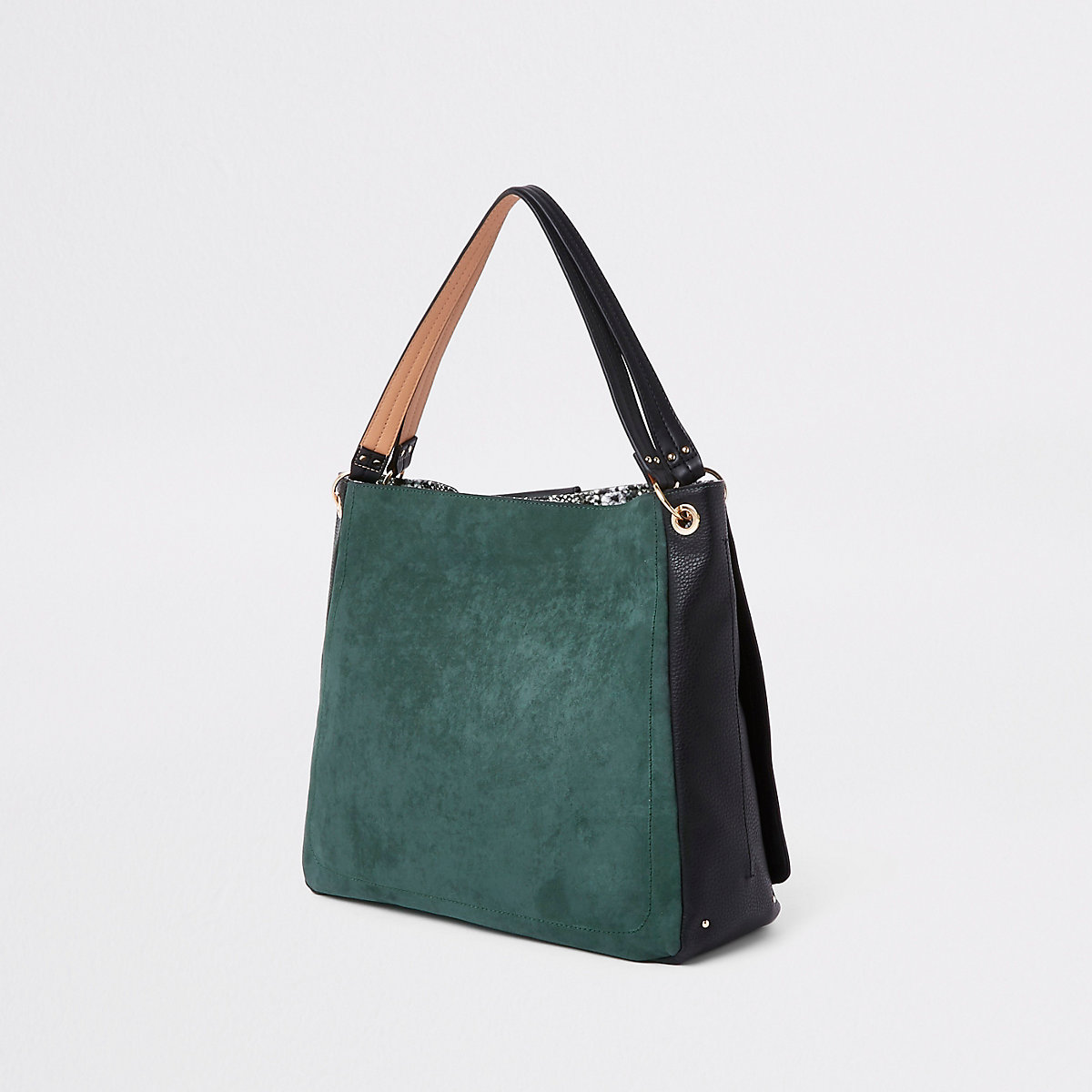 5483f34b2a Dark green oversized metal ring slouch bag - Shoulder Bags - Bags ...