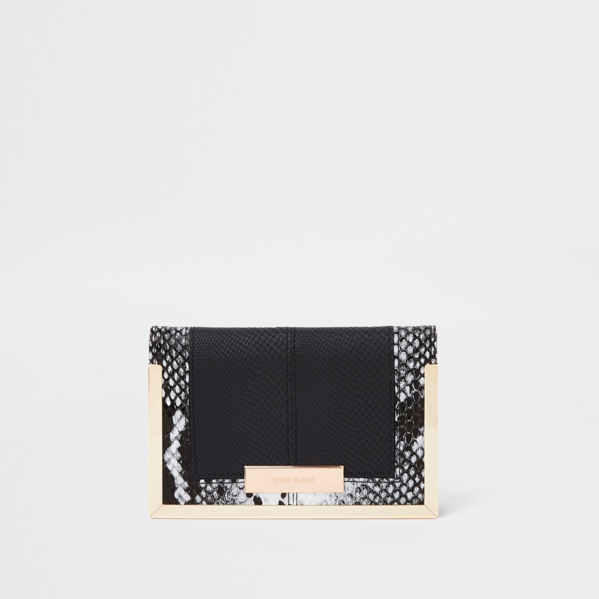 Black snake print passport holder