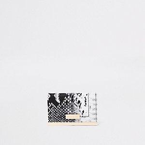 Porte-cartes de voyage blanc impriméserpent