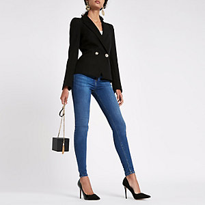 Black long sleeve tux blazer