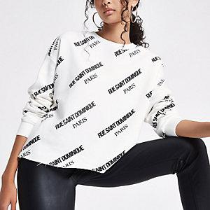 """Weißes Sweatshirt """"Rue Saint Dominique"""""""