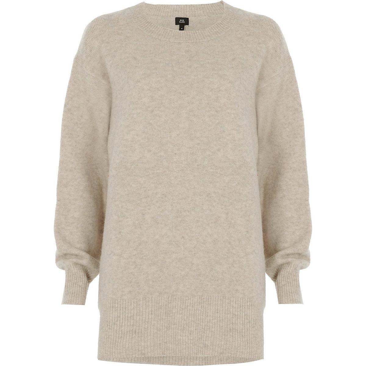f33d8d18867b54 Beige split side knit jumper - Jumpers - Knitwear - women